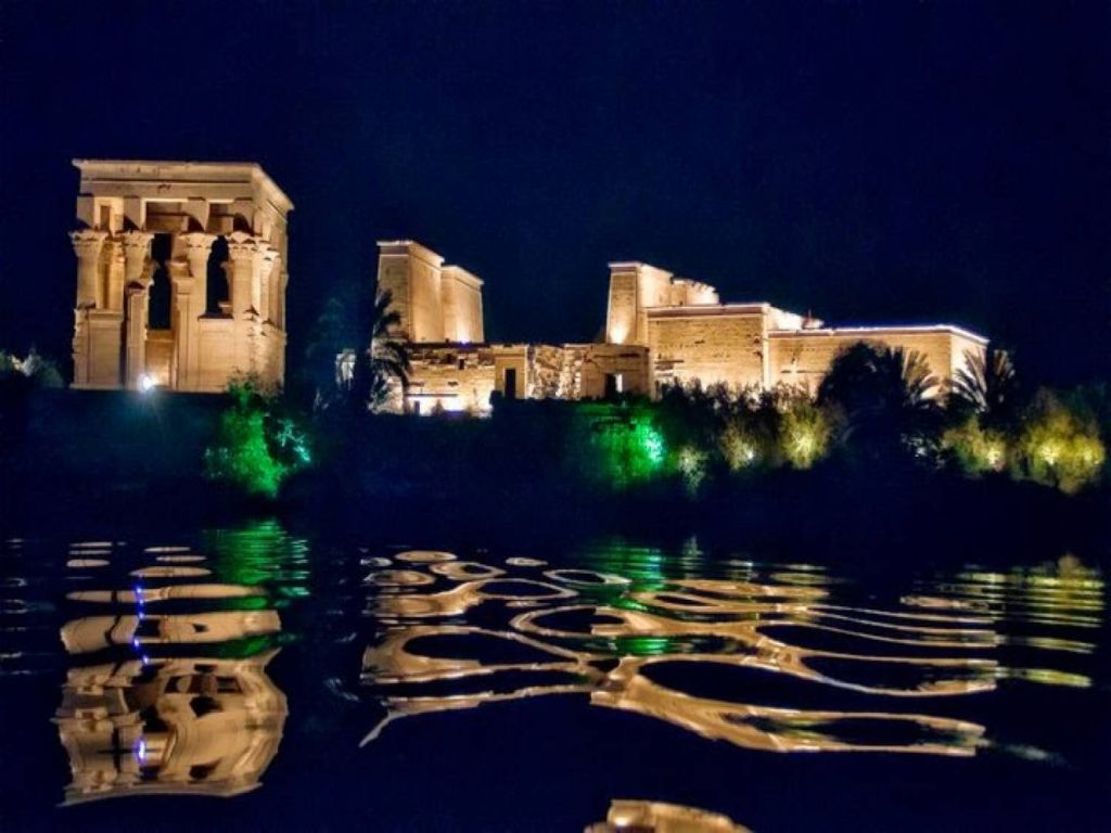 sound and light show at philae temple. Black Bedroom Furniture Sets. Home Design Ideas