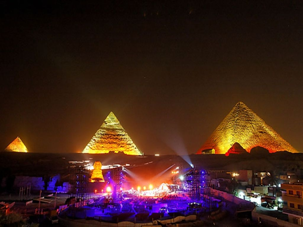 Illuminated Sound & Light Show at the Giza Pyramids